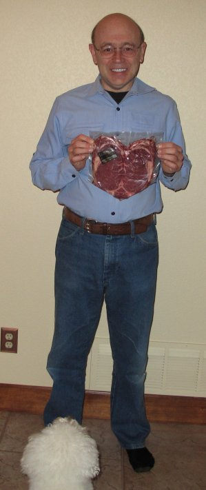 Jeff and QBit With Heart-Shaped Steak02-2009Small.jpg