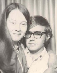 1970: Jeff & Carol in a downtown Chicago photo booth