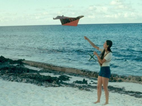 Carol Flying Kite Caymans - 10-1976 - 500 Wide.jpg